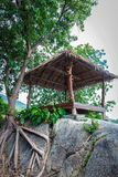 Hut on a rock Stock Photography