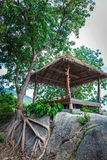 Hut on a rock Royalty Free Stock Photo