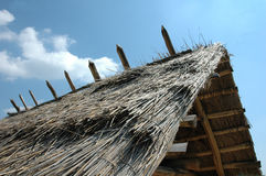 Hut roof. Roof of house build only with  middle age technology Royalty Free Stock Image