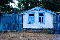 Hut in Russia. The house in Russia in the afternoon Stock Photography