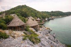 Hut sea view. Huts , sea , ocean , views , viewpoints , mountain , rock , Thailand , asia Stock Photo