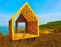 Hut by the sea after Claude Monet Royalty Free Stock Photos