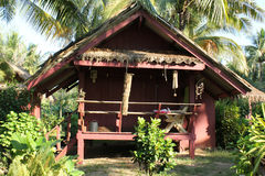 Hut on the seaside. For resort royalty free stock photo