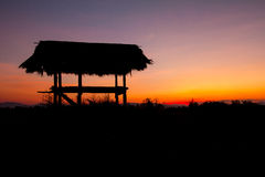 Hut in silhouette style Royalty Free Stock Images