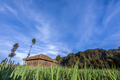 Hut sky. Hut alone in the onion indonesia Royalty Free Stock Image