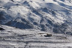Hut in Sneeuw, Libanon Royalty-vrije Stock Foto