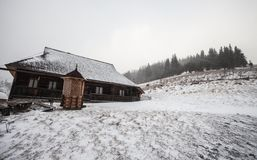 Hut in the snow Royalty Free Stock Image