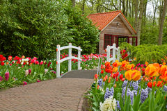 Hut in a spring Royalty Free Stock Image