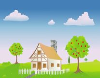 Hut in springtime Royalty Free Stock Photography