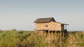 Hut on stilts. House on stilts in the suburbs of Bago, Myanmar Royalty Free Stock Photos