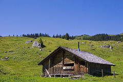 Hut  in Switzerland Stock Photos
