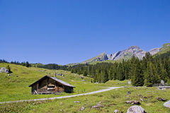 Hut  in Switzerland Stock Photography