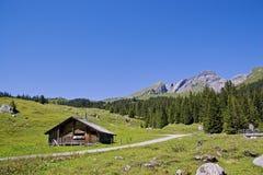 Hut  in Switzerland Stock Photography