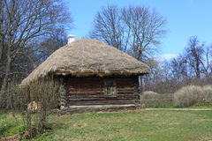 Hut with thatched roof Stock Photos