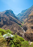 A hut at Tiger Leaping Gorge near Shangri-la Stock Photography