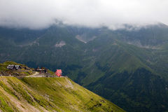 Hut in Transfagarasan, Romania Royalty Free Stock Photos