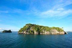 Hut on tropical birds nest island. A hut on tropical birds nest island Royalty Free Stock Photography