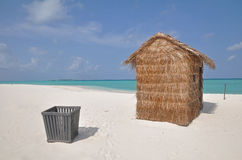 A hut on a tropical island Stock Photo