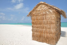 A hut on a tropical island Royalty Free Stock Images