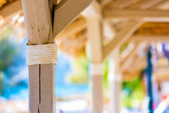 Hut on a tropical island Royalty Free Stock Photo