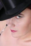 Hut und Auge lizenzfreie stockbilder