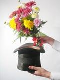 Hut und Blumen Lizenzfreies Stockbild