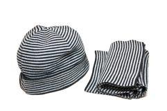 Hut und Schal Stockfoto