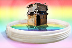 Hut on the water Royalty Free Stock Photo