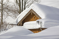 Hut in winter Royalty Free Stock Photography