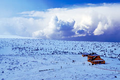 Hut in winter Royalty Free Stock Image