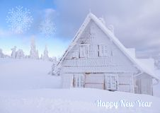 Hut in winter Royalty Free Stock Photos