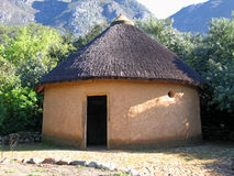 Hut2. Landscape photo of african hut royalty free stock image