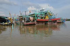 Hutan Melintang Fishing Village Royalty Free Stock Photo
