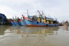 Hutan Melintang Fishing Village Stock Photo