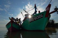 Hutan Melintang Fishing Village stock photos