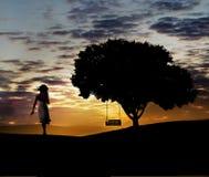 huśtawkowy drzewo Zdjęcia Royalty Free