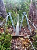 Huśtawkowy most Fotografia Stock