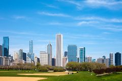 Hutchinson Athletic Field at Grant Park. Downtown, Chicago, Illinois, USA Royalty Free Stock Image