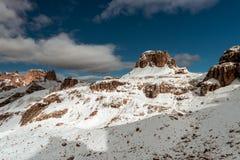 Hute nahe Tre Cime, Dolomit, Europa Lizenzfreie Stockfotos