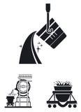 Hutnictwo przemysł. wektoru set ilustracja wektor
