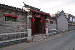 Hutong和allery \街道在北京 免版税库存照片
