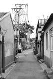 Hutong在老北京市 免版税图库摄影