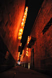hutong κόκκινο φαναριών Στοκ φωτογραφία με δικαίωμα ελεύθερης χρήσης