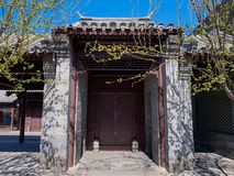 Hutong and allery in Beijing royalty free stock image
