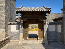 Hutong and allery in Beijing stock photography
