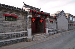 Hutong and allery \street in Beijing Royalty Free Stock Photo