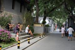 Hutong in alter Peking-Stadt Lizenzfreie Stockbilder