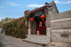 Hutong Culture of Beijing Residence in Shichahai of Beijing Royalty Free Stock Photography