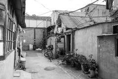Hutong dans la vieille ville de Pékin Image libre de droits