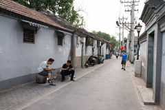 Hutong dans la vieille ville de Pékin Image stock